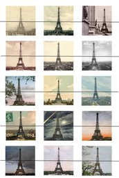 Torre Eiffel quadrato 25 mm