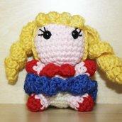 "Pupazzetto portachiavi uncinetto amigurumi ""Sailor Moon"""