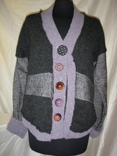 giacca donna fantasia patchwork