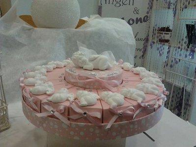 torta bomboniera con gessetti angelo