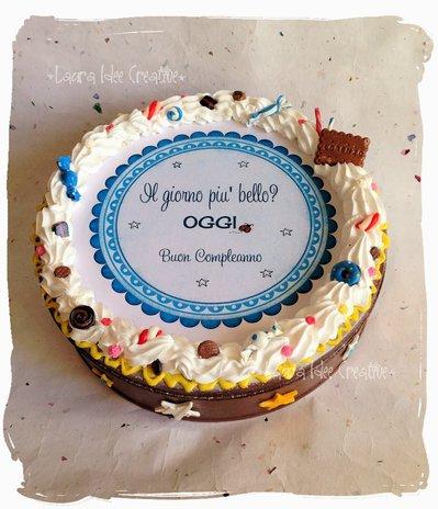 Scatola torta per compleanno