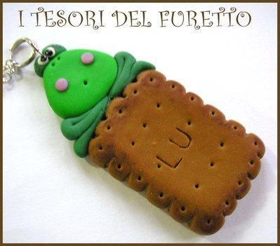 "Collana ""Rana su biscottino"" fimo cernit kawaii idea regalo bambina teenager"