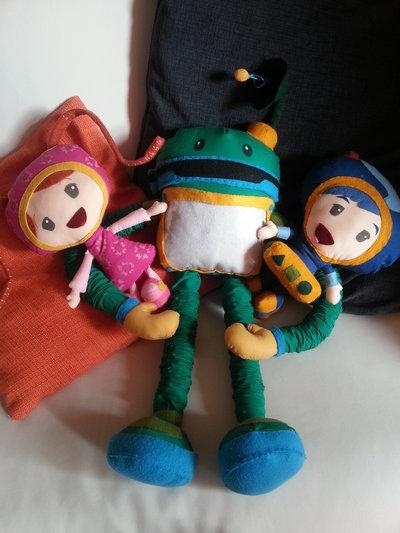 Inserzione riservata Team umizoomi- Pupazzi stoffa fatto a mano- MILLI BOT GEO