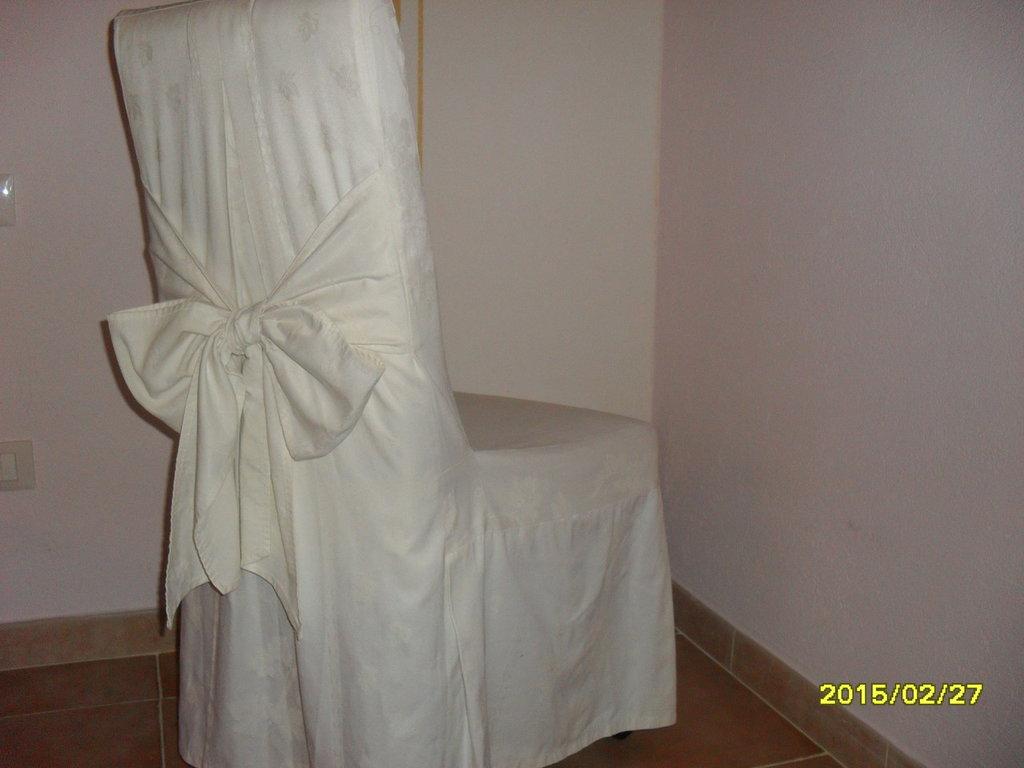 copri-sedia in broccatello di cotone