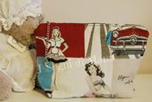Pochette stoffa Pin Up