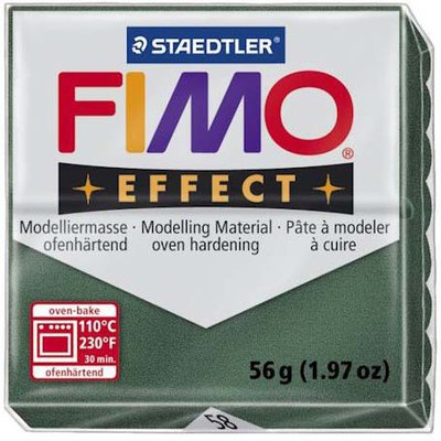 Panetto Fimo Effect 56 gr. - n. 58 opal green metallico