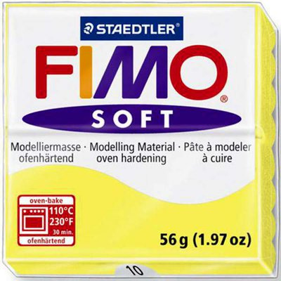 Panetto Fimo Soft 56 gr. - n. 10 limone