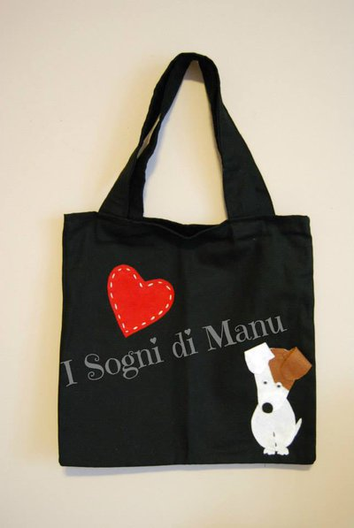 Shopping bag con Jack Russell