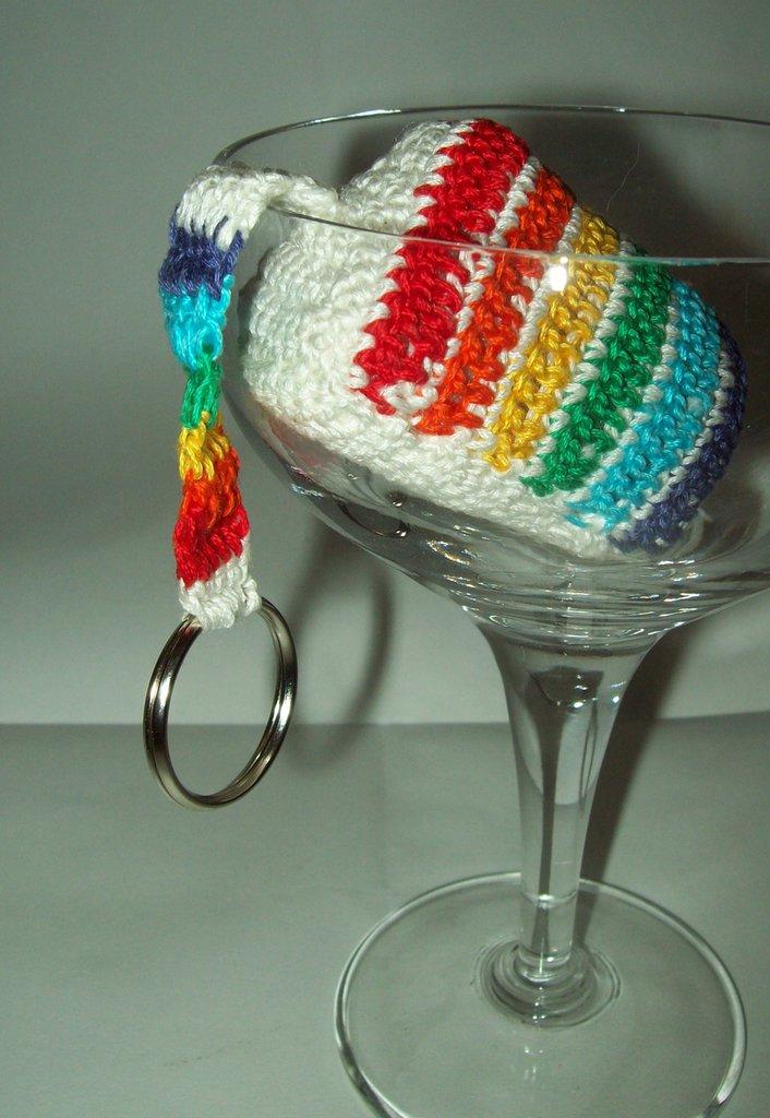 "Portachiavi ""rainbow cake"""
