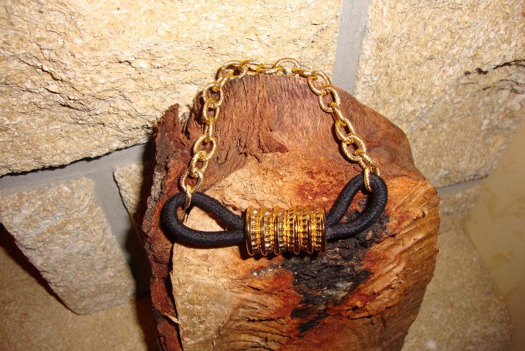 bracciale maglia dorato