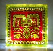 lampada tribal dipinta a mano