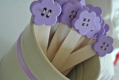 Segnalibro bomboniera fiore lilla