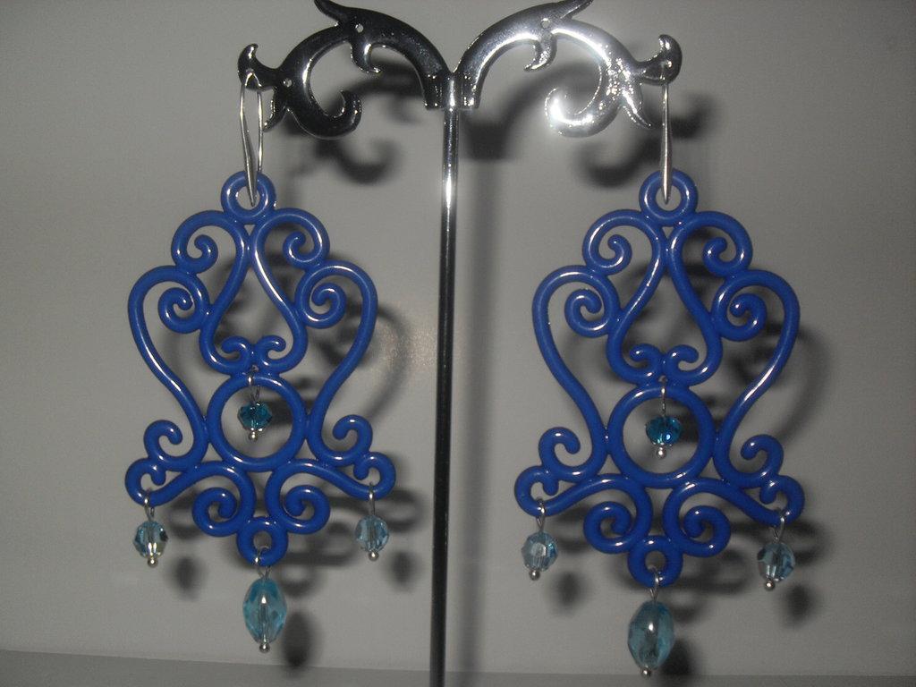 """Orecchini """"Night"""" blue"""