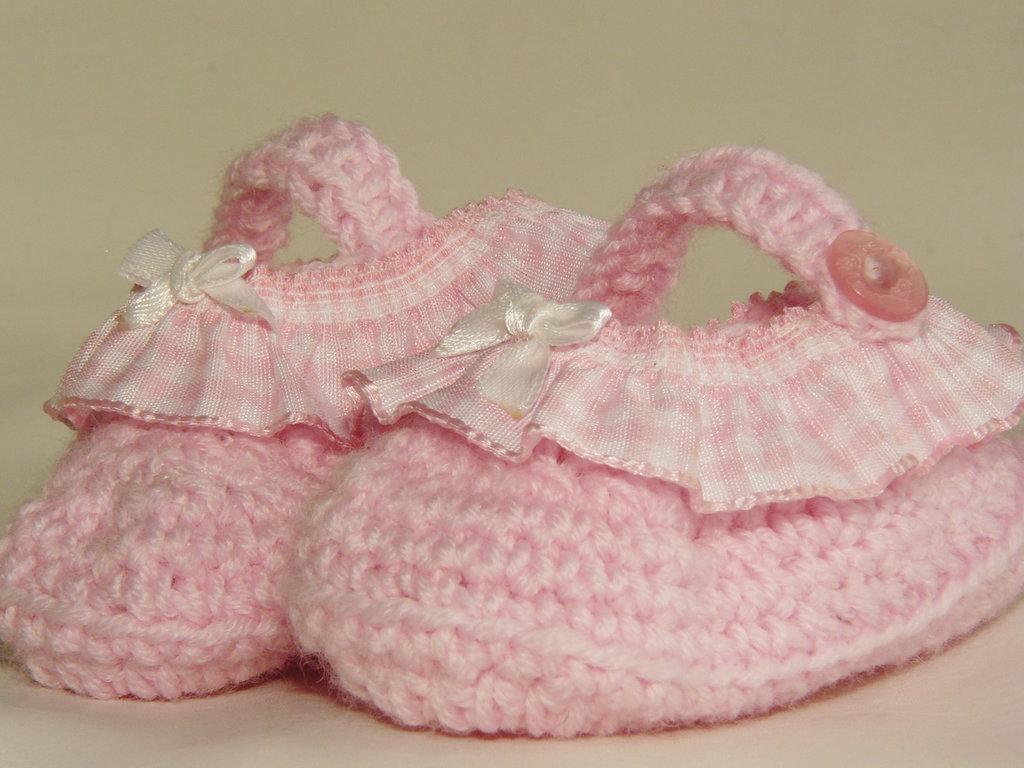 scarpine rosa con fiocchetto