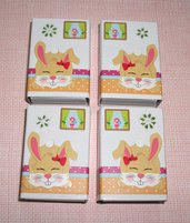 Pasqua Collection^^ - Lotto Scatoline decorate per regali e pensierini di pasqua - Bunny in Beige&Green (4pz)