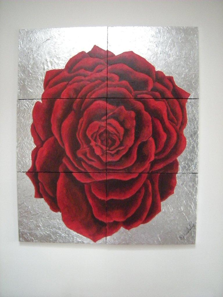Quadro Rosa rossa