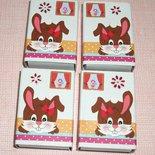 Pasqua Collection^^ - Lotto Scatoline decorate per regali e pensierini di pasqua - Bunny in Chocolate&Red (4pz)