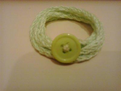Braccialetto in cotone verda mela