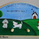 Appendiabiti con prato e cani