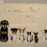 Targa famiglia cani