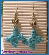 Orecchini Farfalle azzurre