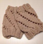 Scaldamuscoli, polsini in lana fatti a mano
