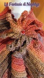 Sciarpa Fantasy Multicolor con Fiore