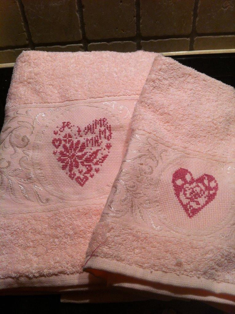 Asciugamani per una mamma speciale!ricamato a mano