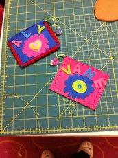 Portamonete colorati feltro