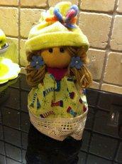 Barattolo bambola portacaramelle