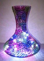 lampada vaso spirale dipinta a mano