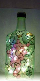 lampada uva dipinta a mano