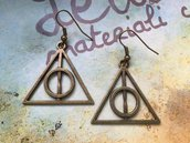 Orecchini Harry Potter I doni della morte bronzo