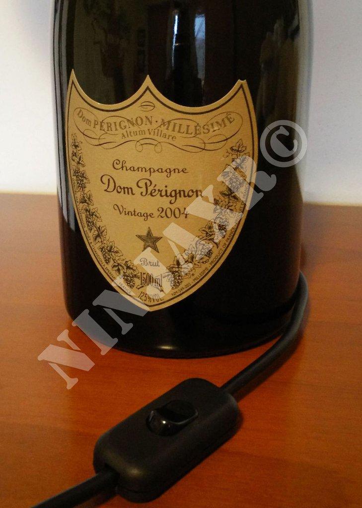 Lampada Bottiglia Champagne Dom Perignon Magnum 1,5 Litri