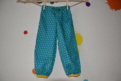 Pantalone azzurro per bambini in puro cotone fatto a mano