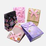 5 pz sacchetti di carta rigida fantasia confez. regalo