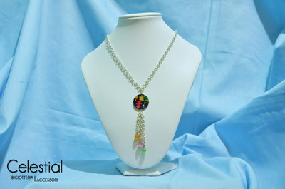 Collana Madreperla Lunga - Fiori primavera