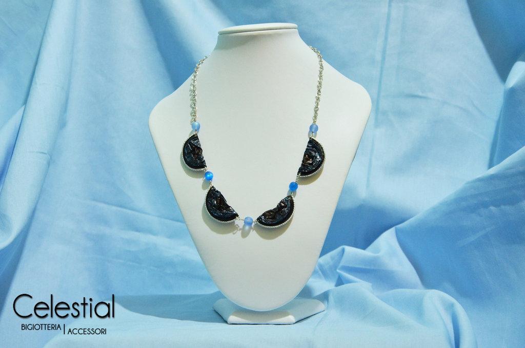 Collana Nespresso e perle - Mix Blue