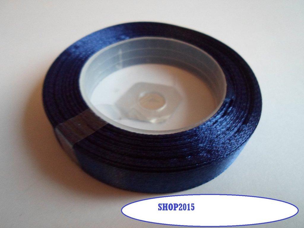 1 mt  nastro raso blu  12 mm