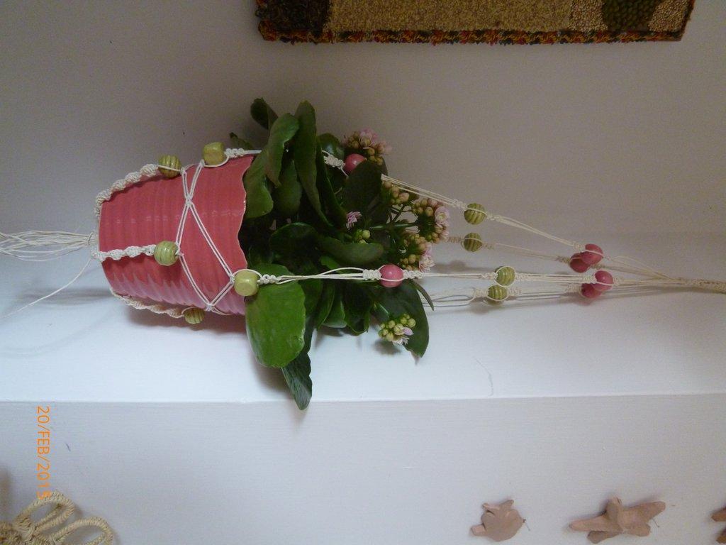 porta piante macramè