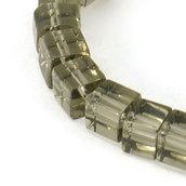 Perline a cubi cristallo grigio trasparente 75~78pcs/filo