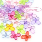 10 mix Distanziatori perle forma  farfalla 1,3x1,7 cm