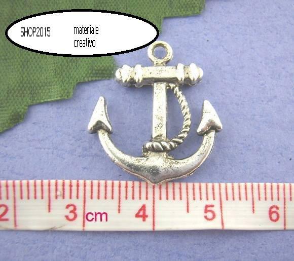 Charms ciondolo Ancora tono argento Antico 2,3×2 cm