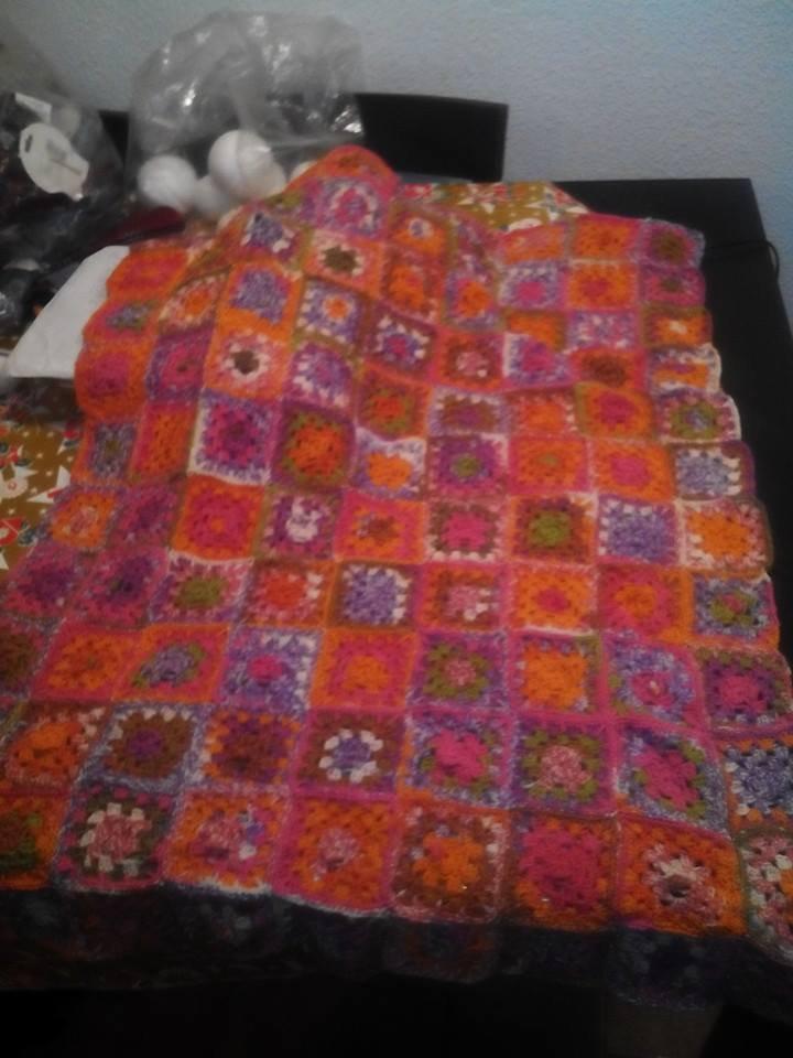 coperta lettino granny square uncinetto
