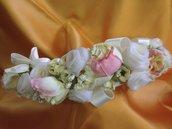 Cerchiello floreale di raso e seta - Wendy