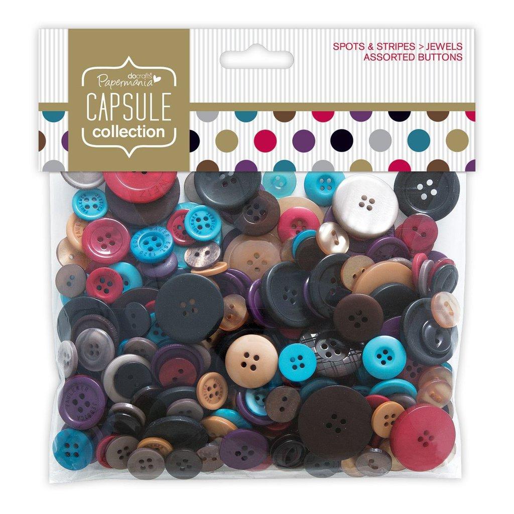 Mix 250 gr bottoni - Spots & Stripes Jewels