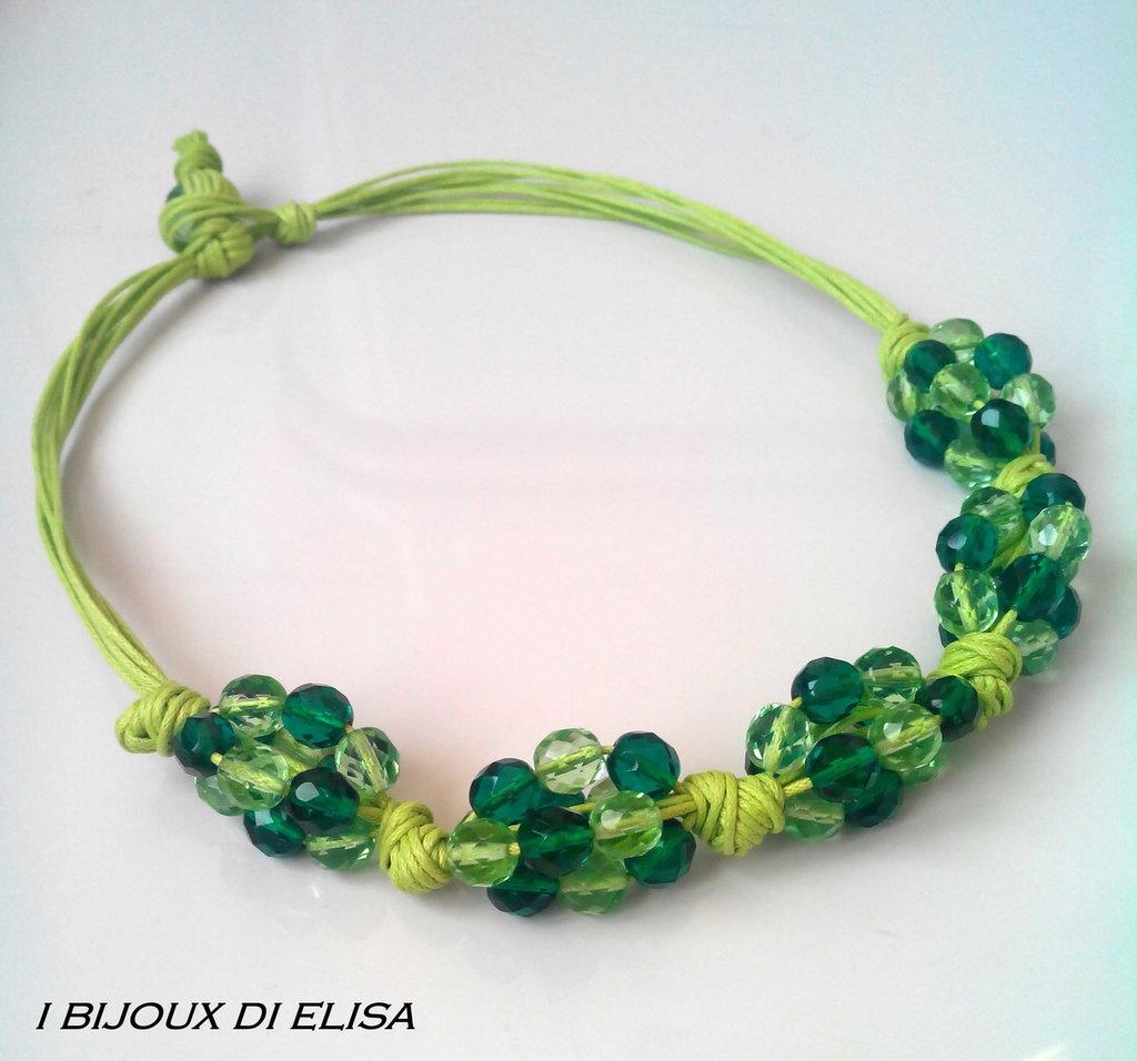 Collana grappolo verde