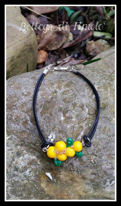 braccialetto mimosa donna