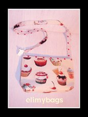 Borsa tracolla cupcakes dolcetti in stoffa  handmade♥