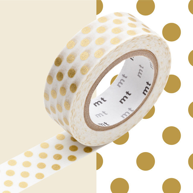 Washi Tape - Dot gold